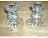 Pair of short candlestick holders depression glass 2 thumb155 crop