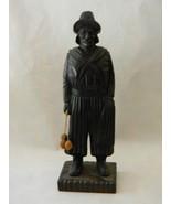 """Vintage Wood Sculpture 12 5/8"""" Tall - $100.00"""