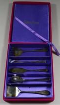 Neiman Marcus Godinger Silverplate Appetizer / Horsd'oeuvre Set of 5 Vel... - $25.05