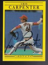 Cris Carpenter Autographed Card 1991 Fleer St. Louis Cardinals - $4.98