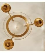 Taper Candle Holder Vase Floral Arrangement Centerpiece Matte Gold Crack... - $19.78
