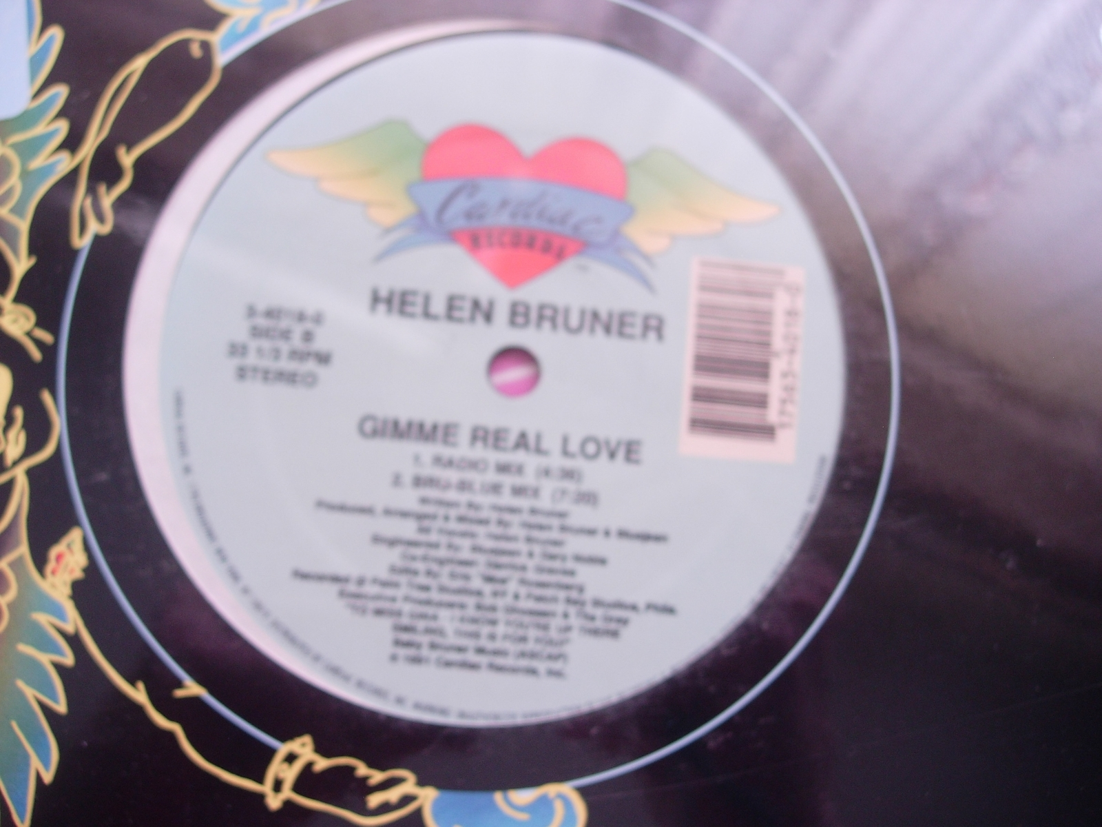 Helen Bruner - Gimme Real Love - Cardiac Records 3-4018-0 - SEALED