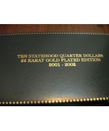Coin Collections-Statehood quarter dollars- 24K Gold Plated - $37.65 CAD