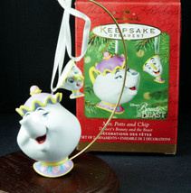 Hallmark Ornament Disney MRS POTTS & CHIP Beauty & the Beast 2001 New in... - £30.86 GBP