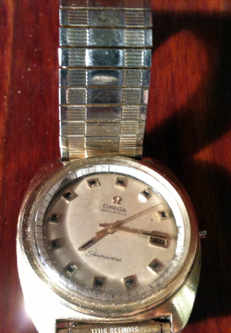 Vintage Omega Automatic Seamaster Watch w/ Spiedel Band