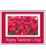 Valentine Note Cards: 2  Blank Handmade Floral-... - $2.95