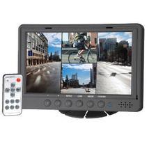 "Magnadyne M135C-4 7"" Color LCD Safety Quad Camera Monitor with 4 Camera ... - $199.95"