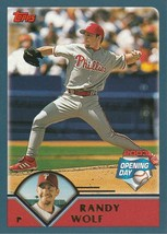 2003 Topps Opening Day #79 Randy Wolf - $0.50