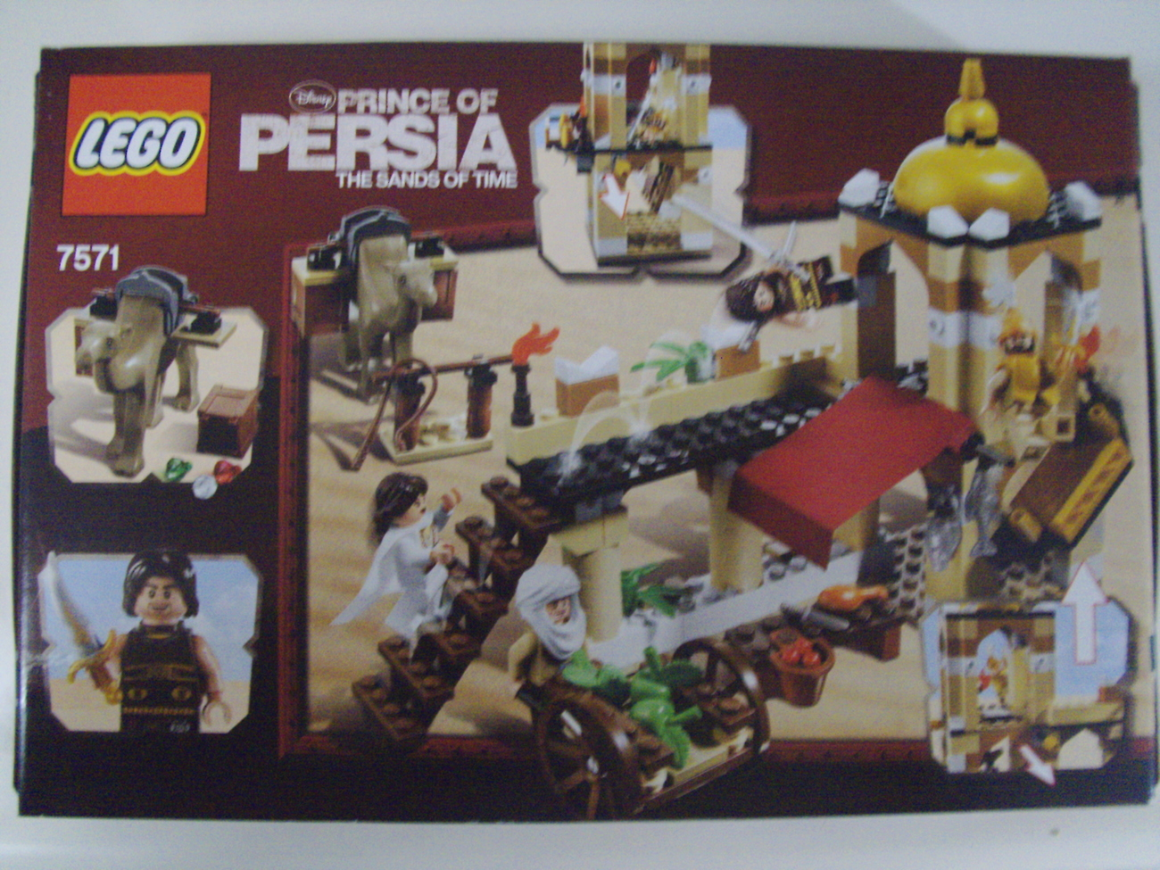 LEGO Disney Prince Of Persia Sands of Time lot of 2 sets 7571 and 7569 - New