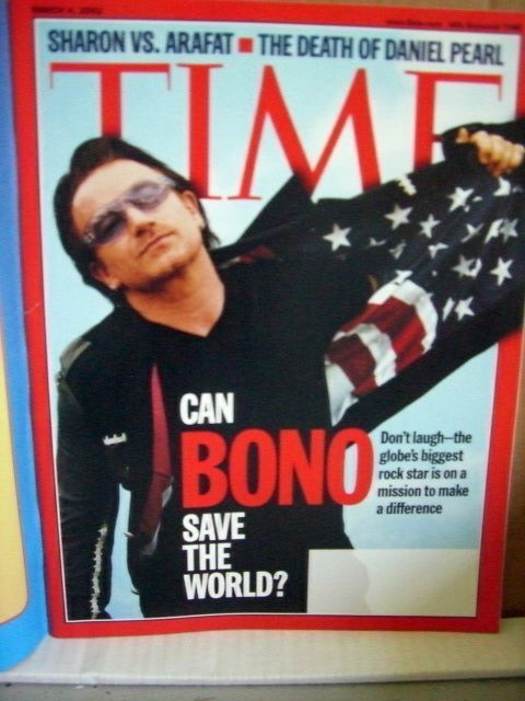 Time Magazine March 4 2002 Can Bono Save the World