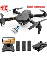 Drone X Pro Selfi Wifi FPV GPS 1080P HD Camera Foldable 6-axis RC Quadco... - $242.65