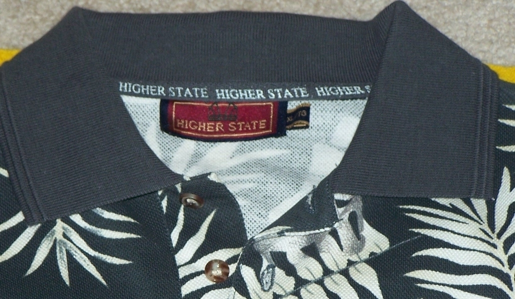 New Higher State Hawaiian Shirt  1970 Cotton XL