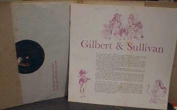 Ralph Hunter Choir GILBERT & SULLIVAN w/ 4 songbooks - RCA Victor LPM-2116