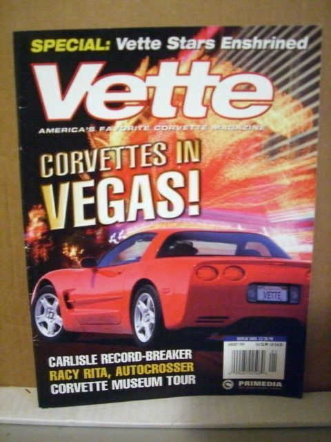 VETTE Magazine January 1999 Corvettes in Vegas