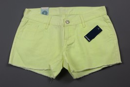 "NWT- OLD NAVY The Diva Cutoff ""Neon Alarm Clock"" Neon Yellow Jean shorts Size 2 - $12.82"