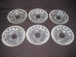 Set Of 6 Crystal Ashtrays Italy - $15.00