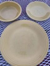 fiestaware vintage Yellow Plate Saucer Bowl - $29.70