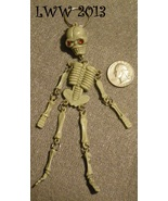 Halloween Skeleton Skull Keychain with red gem eyes Pirate  - $2.50