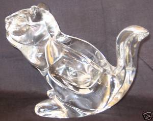 Primary image for Chipmunk Crystal Kristallglas Clear Votive Candle Holder Germany 3lb Mint