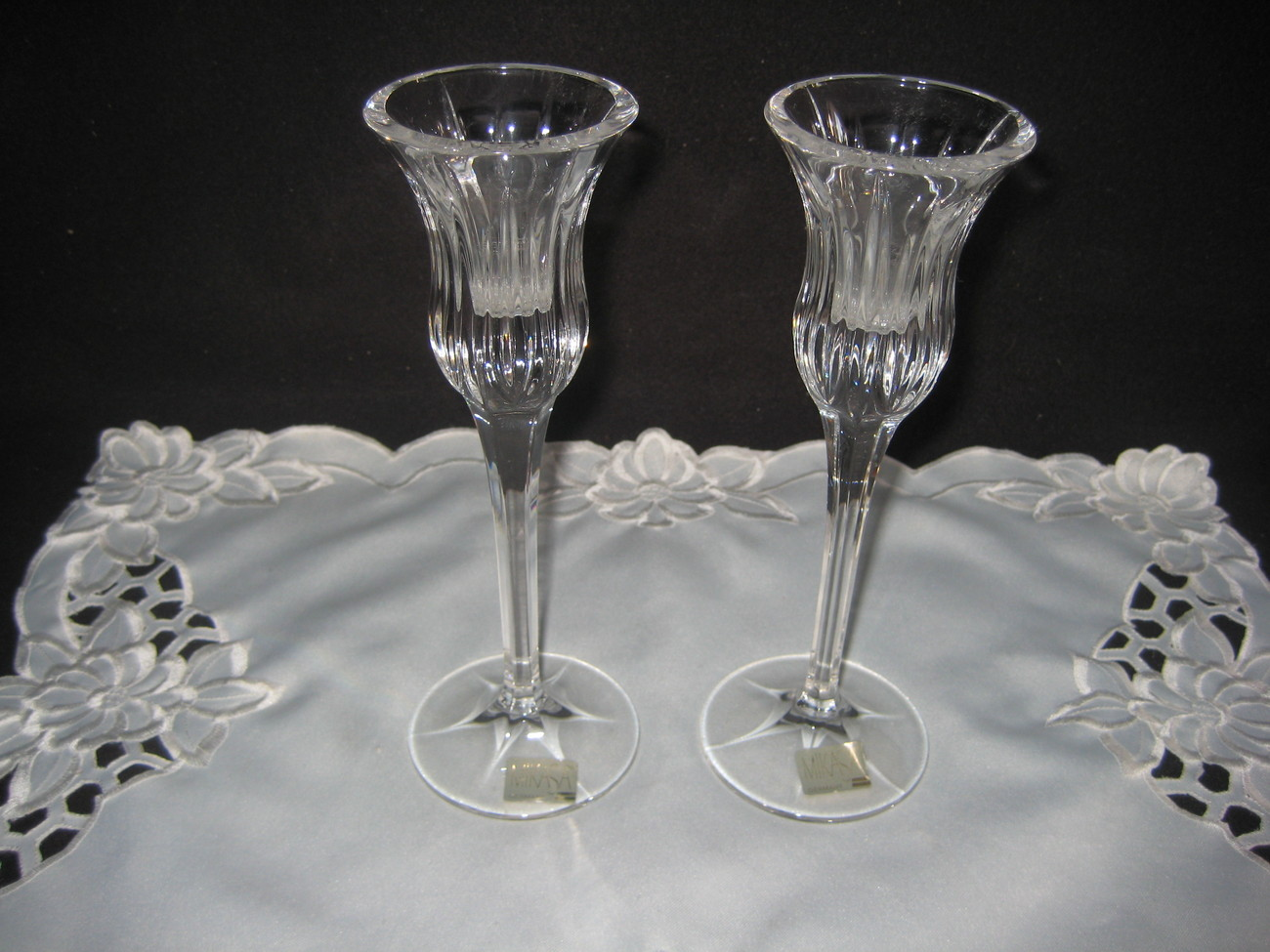 Mikasa Crystal Candlestick Holders New