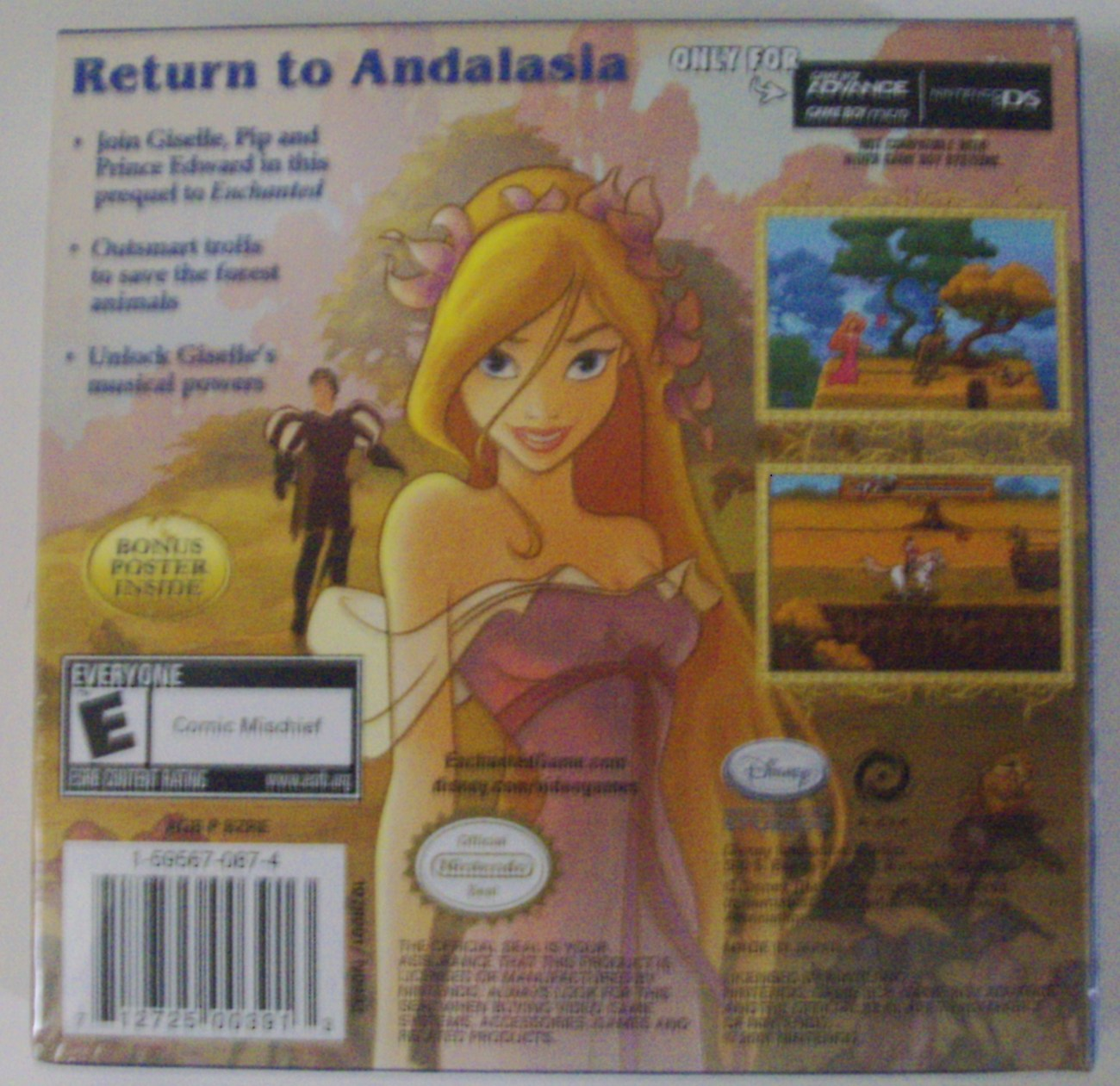 Disney Enchanted Once Upon Andalasia for Game Boy Advance