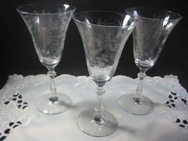 Stunning Crystal Clear Depression Wine Glasses - $29.00