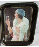 Coca-Cola Advertising Tin Serving Tray 13x11 Vintage 1973 Woman in White... - $18.59