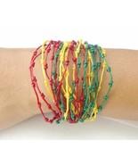 Handcrafted Rasta Knot Design Wax Cotton FAIR TRADE Womens BRACELET Wris... - $8.09