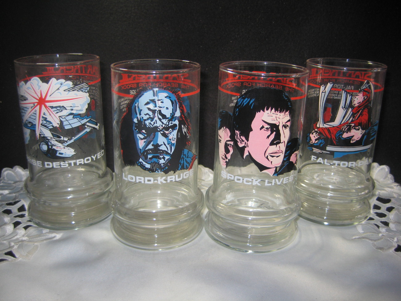 Star Trek Collecor Glasses set of 4