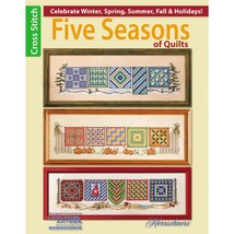 Five Seasons of Quilts cross stitch booklet Leisure Arts - $7.20