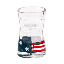 American Flag Men's Swimsuit Shot Glass Clear - $12.73 CAD