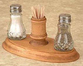 Salt Pepper Napkin Holder - w/Stand