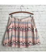 Lauren Conrad On Deck Beach Umbrella Pink Rayon Skirt Womans XL New - $28.98