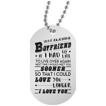 To My Boyfriend Dog Tags Personalized - Girlfriend and Boyfriend Necklac... - £15.05 GBP