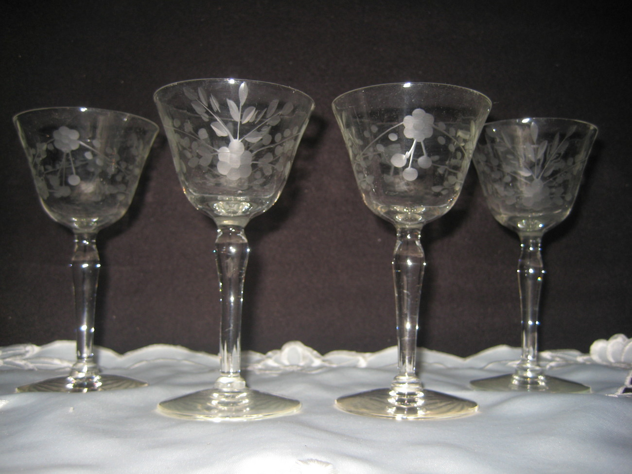 Crystal Cordial Glasses