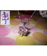 Clover Rhinestone Pendant Necklace - $5.00