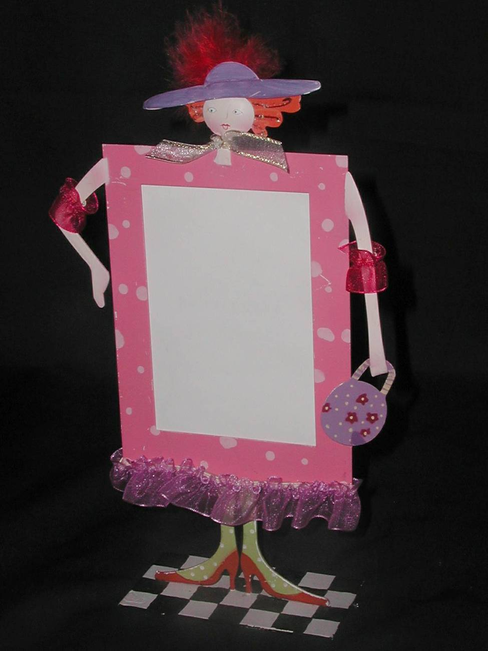 Photo frame lady in pink