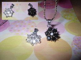 Snow Flake Rhinestone Pendant Necklace - $5.00