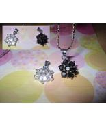 Snow Flake Rhinestone Pendant Necklace - $5.00