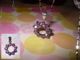Hoop Rhinestone Pendant Necklace - $5.00