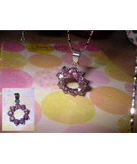 Hoop Rhinestone Pendant Necklace - $5.00