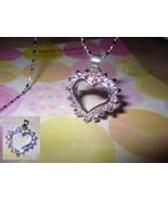 Heart Hoop Rhinestone Pendant Necklace - $5.00