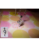 Abstract Heart Rhinestone Pendant Necklace - $5.00