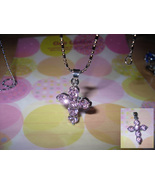 Cross Rhinestone Pendant Necklace - $5.00