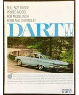 1961 Dodge Dart PRINT AD Pale Blue White Walls - $11.89