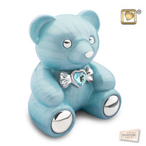 Blue Cuddle Bear Funeral Cremation Urn for Ashes, 100 Cubic Inches - $269.99