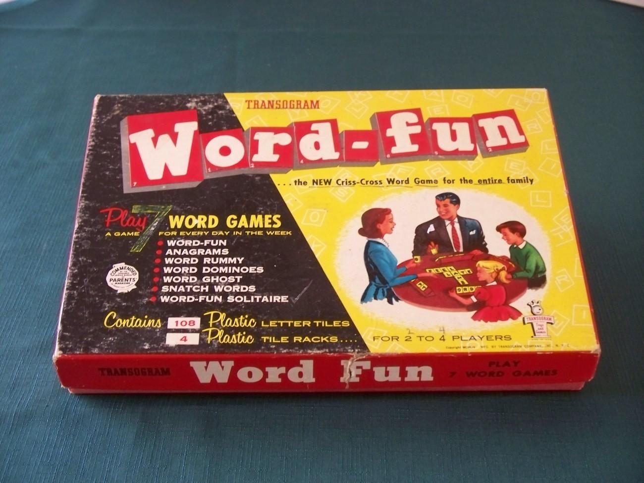 Vintage 1954 Word-fun Transogram Complete