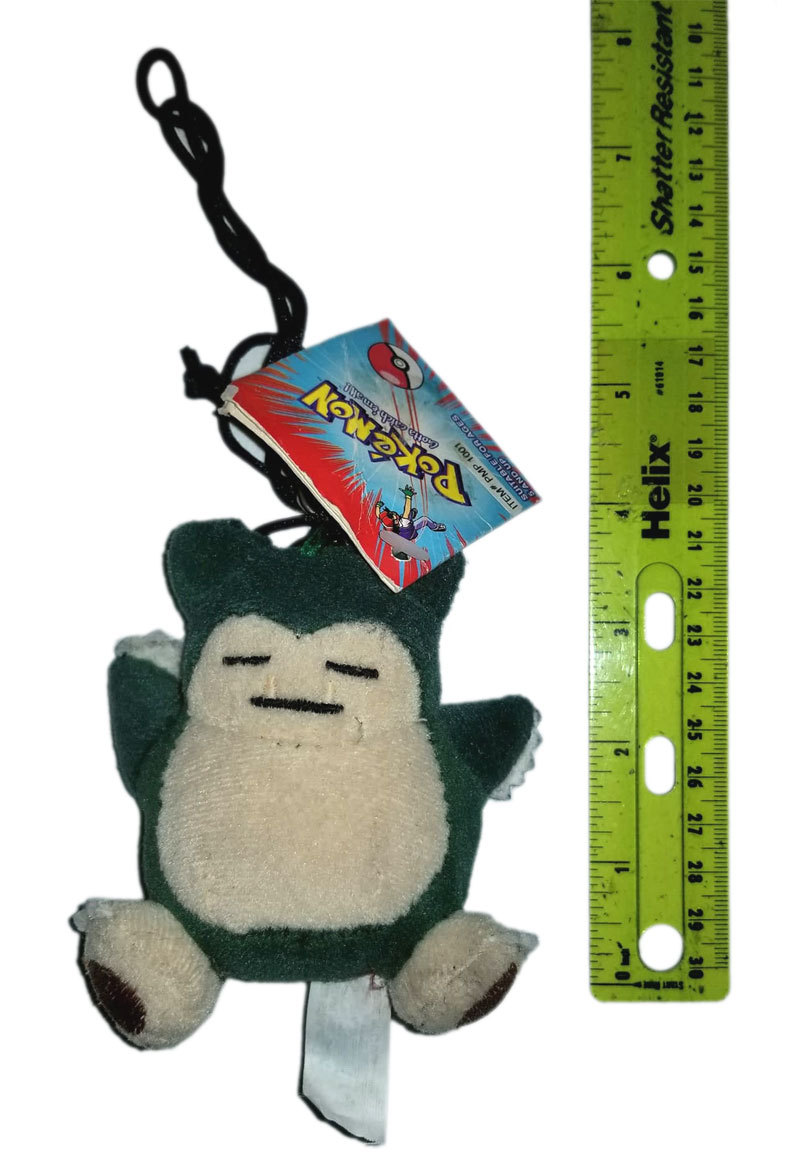 "Pokemon OOP 1999 ""Snorlax"" Anime Plush Clip / Keychain * BRAND NEW!"