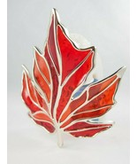 Bath & Body Works Autumn Fall Stained Glass Red Leaf Light Up Wallflower... - $10.88