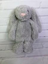 Jellycat Bunny Bashful Gray Plush Stuffed Animal Soft Floppy Long Ears L... - $15.98